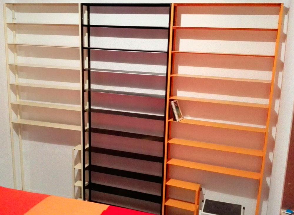 Estanter as de hierro 3cos dise o de muebles taller la for Diseno de muebles de hierro